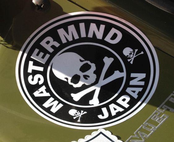 sticker Mastermind Japan Amsterdam center 2014 April skull bones