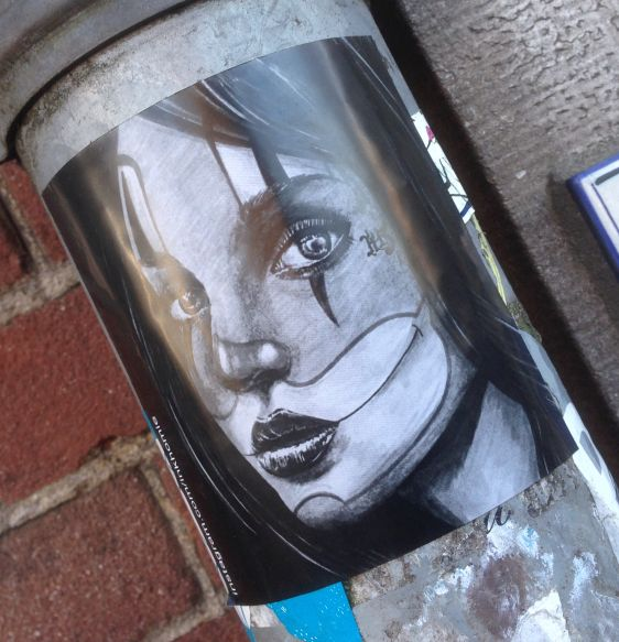 sticker inkhomie Amsterdam 2014 December woman girl face