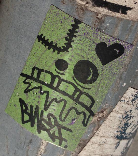 sticker BW2F Amsterdam CS 2014 April heart
