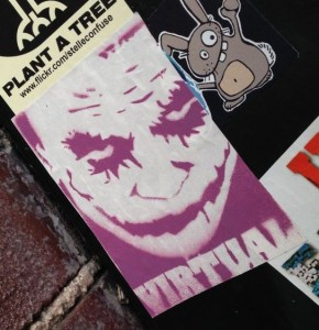sticker Virtual joker Amsterdam center 2013 December