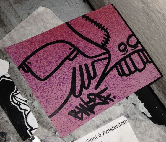 sticker creature BW2F Amsterdam center January 2014 003