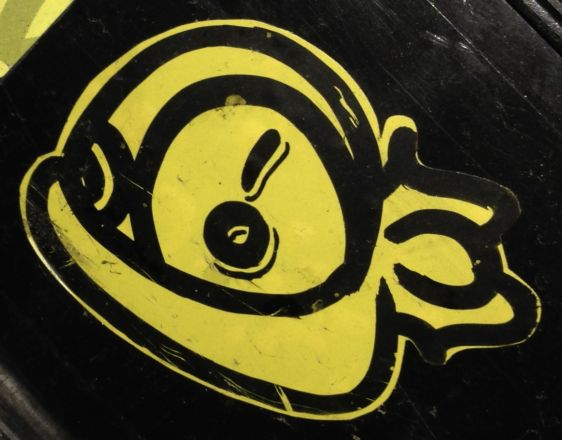 sticker critter yellow Amsterdam center 2014 April