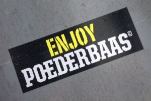 sticker enjoy poederbaas Amsterdam De Pijp 2013 November drugs