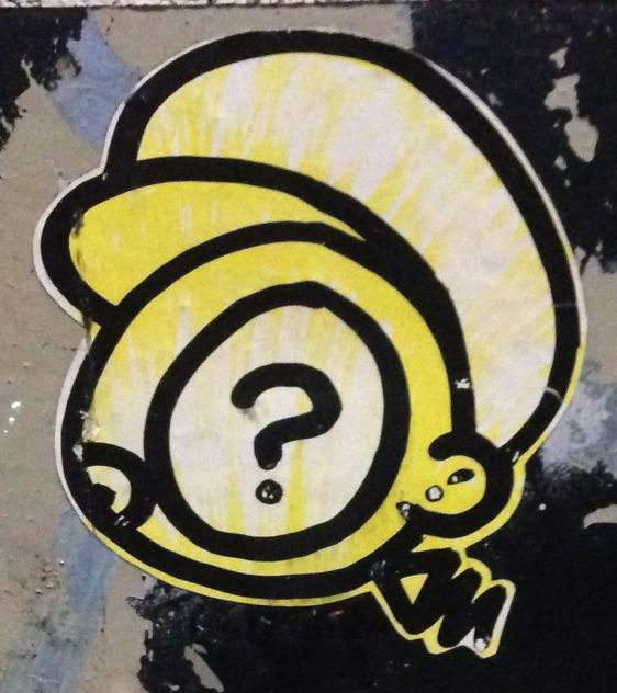 sticker questionmark Amsterdam center January 2014 016