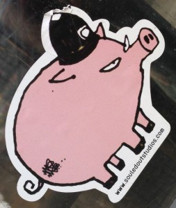 Souledoutstudios sticker pig police 2014 February Amsterdam center swine hog