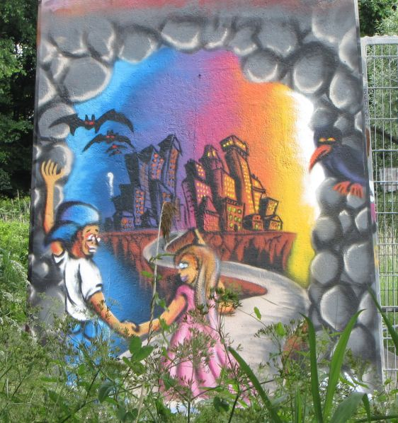 graffiti Amsterdamse Brug Amsterdam 2014 May boy girl date bats city