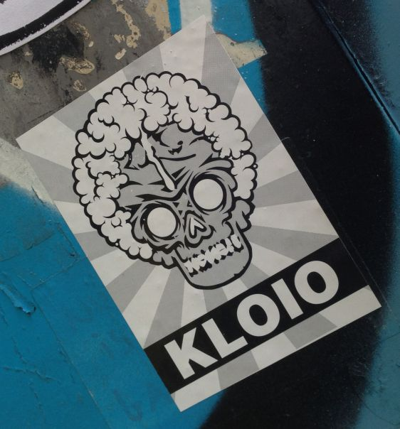sticker Kloio Amsterdam center 2014 February skull