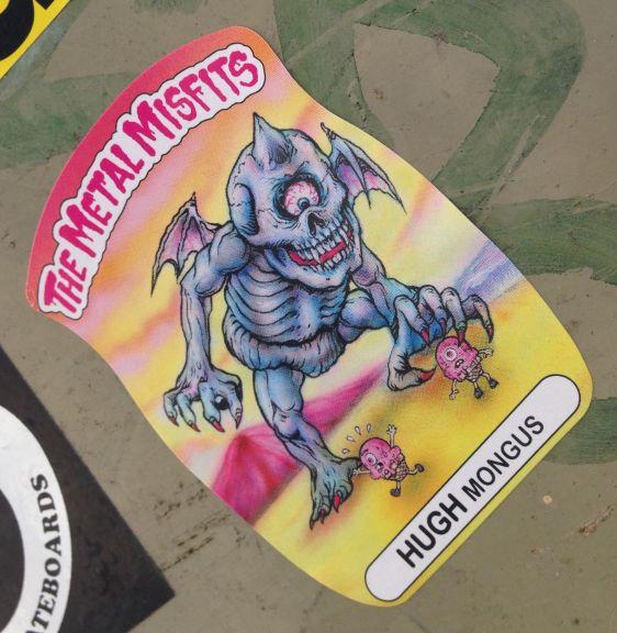 sticker Metal Misfits Hugh Mongus Amsterdam CS 2014 April