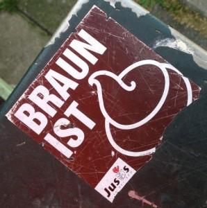 sticker braun ist Amsterdam Centrum 2013 shit poop