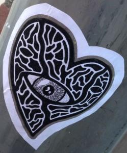 sticker heart eye Amsterdam December 2013
