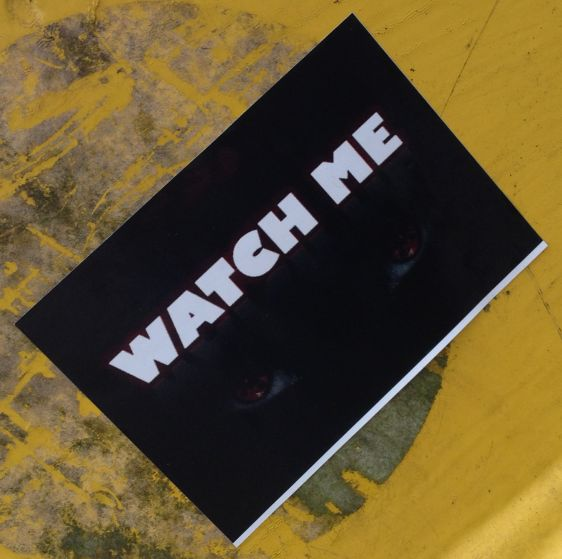 sticker watch me Amsterdam South 2014 March eyes
