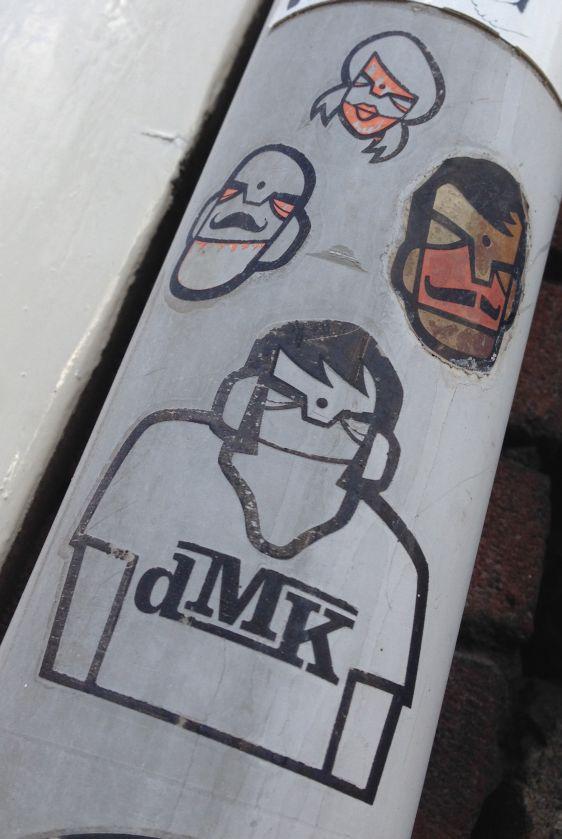 stickers DMK Amsterdam center 2014 February multiple