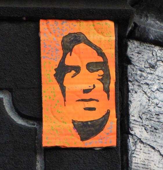 Jimmy Granti stift street-art cardboard Amsterdam Spuistraat 2014 November