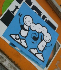 TLP sticker The London Police Amsterdam 2012 August multiple heads