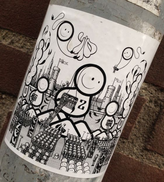 TLP sticker The London Police Amsterdam 2014 January space ship