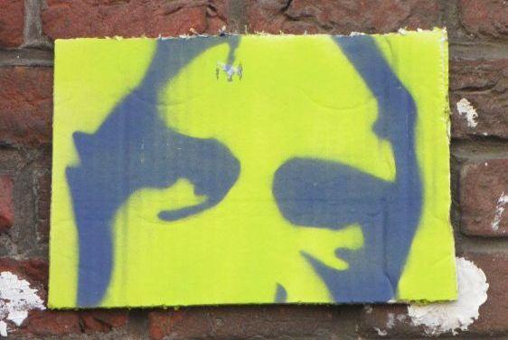 graffiti Jimmy Granti cardboard 2014 June Amsterdam Spuistraat