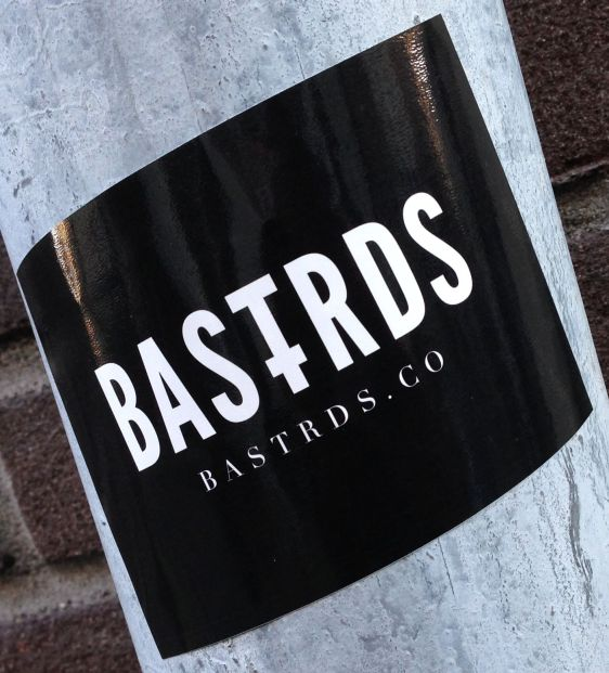 sticker Bastrds Amsterdam center March 2014 bastrards crime