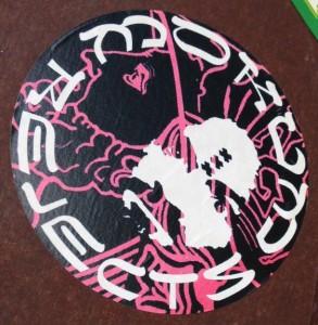 sticker Mokum rejects Amsterdam center 2014 February Charles Manson
