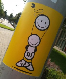 sticker The London Police Amsterdam 2012 August yellow nr 10