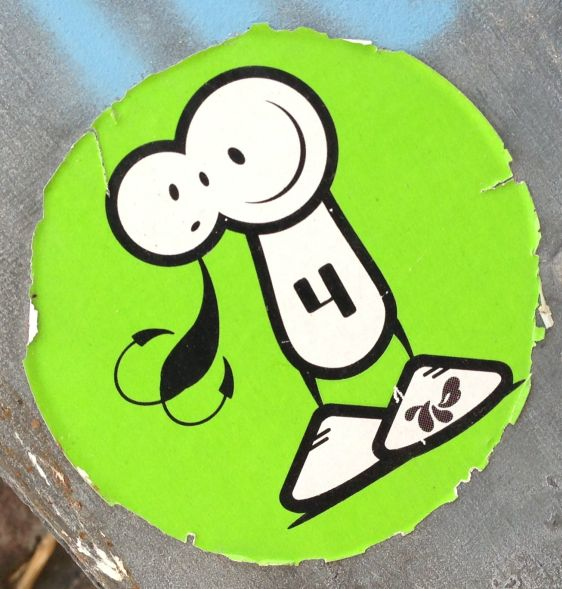 sticker The London Police Amsterdam 2013 July two heads nr 4