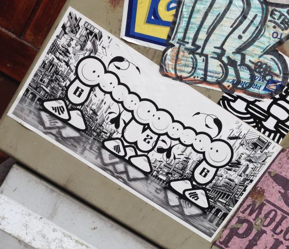 sticker The London Police Amsterdam 2014 March 626
