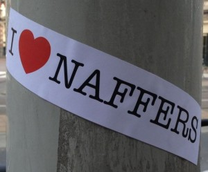 sticker i love Naffers Holland Amsterdam 2014 March Marokkanen