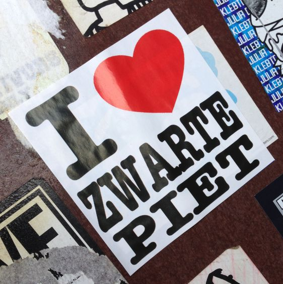 sticker i love zwarte Piet Amsterdam center February