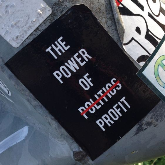 sticker power of politics profit Amsterdam east 2014 April