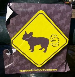 GTCompany sticker dog fart Amsterdam south 2013 August hond scheet