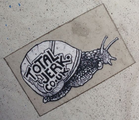 Total Jerk sticker snail Amsterdam east 2014 April