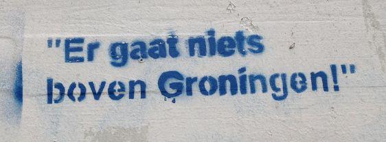 graffiti Er gaat niets boven Groningen Amsterdam North 2014 April