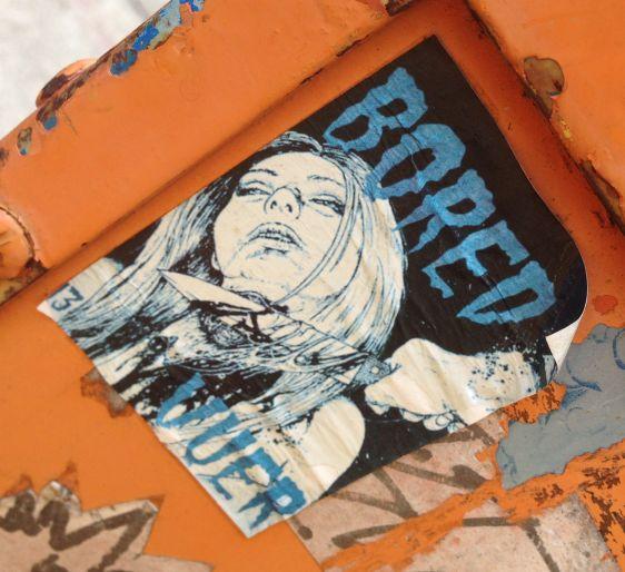 sticker Bored Vuer 2014 July Philadelphia girl knife throat crime