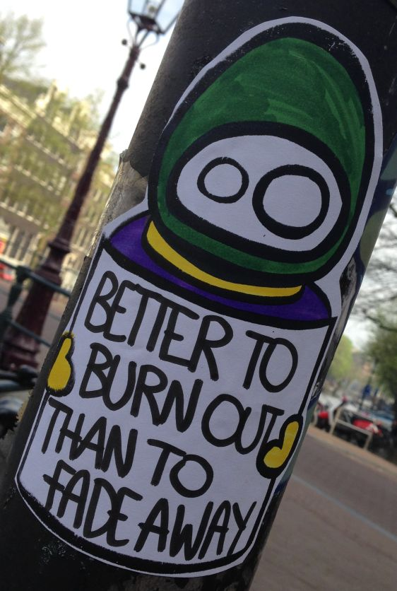 sticker LN better burn out fade away Amsterdam center 2014 April