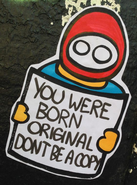 sticker LN born original dont copy Amsterdam center 2014 April