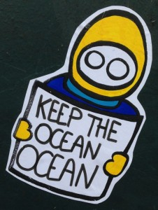 sticker LN keep ocean ocean Amsterdam center 2014 April