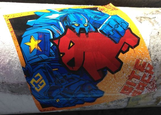 sticker Luke da Duke Amsterdam center 2013 September Bite Back