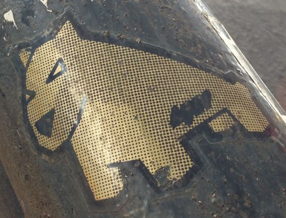 sticker Luke da Duke Amsterdam center September 2013