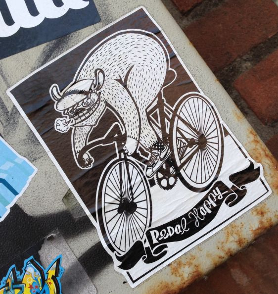 sticker Pedal Happy Amsterdam east 2014 April bike bicycle