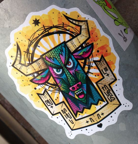 sticker Taurus Amsterdam east 2014 April bull