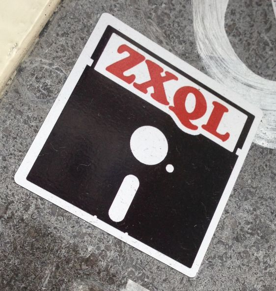 sticker ZXQL 2014 May Amsterdam Center red black white