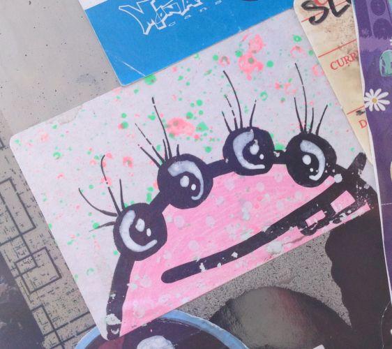 sticker beast 4 eyes Amsterdam east 2014 April monster