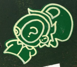 sticker critter Amsterdam east 2014 April green