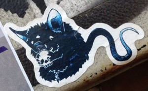 sticker rat skull Amsterdam east 2014 April schedel horror