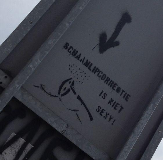 graffiti schaamlipcorrectie niet sexy Amsterdam 2014 April