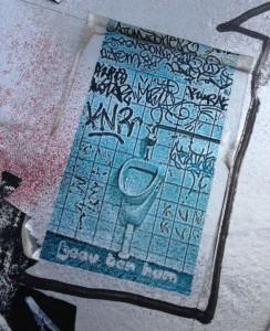 sticker Beau ter Ham 2014 June Amsterdam North NDSM toilet pisbak wc