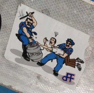 sticker DAF made Amsterdam 2014 March beer police alcohol
