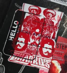 sticker Dharros Amsterdam center 2014 March Mexico guns rifles
