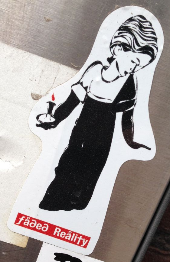 sticker Faded reality Amsterdam CS 2014 April woman dress candle