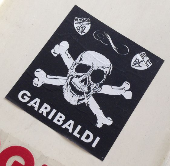sticker Garibaldi demencia Amsterdam 2013 joint cannabis