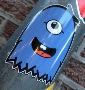 sticker Love Critter 2014 January Amsterdam center blue happy